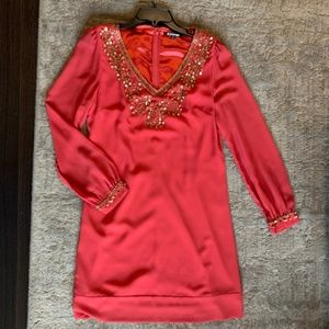 Gianni Bini Pink Dress with Gold Sequin Detail